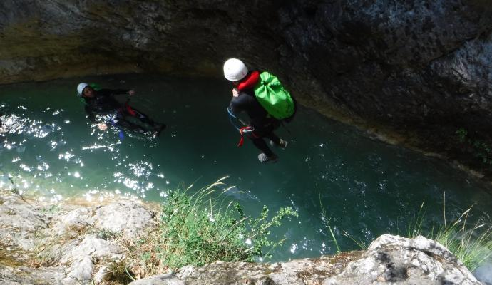 Canyoning frontière Italienne